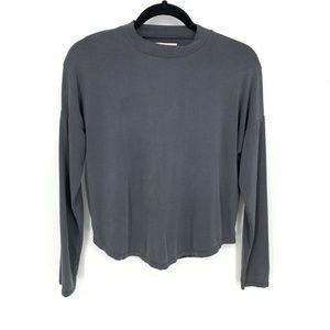 Madewell Sandwashed Mockneck Long Sleeve Top Shirt
